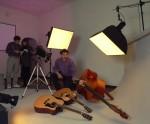 Studio photography of product,guitars